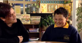 Tamaki Primary teacher Robyn, and student Aidan, talk about homework.