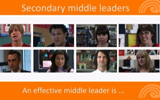 Secondary Middle leaders - media gallery.