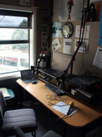 Broadcasting studio at Lyall Bay School.