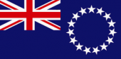 Cook Islands flag.