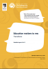 Education matters to me: Transitions