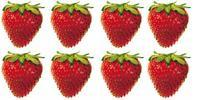Eight strawberries.
