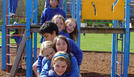 Students on the playground.