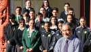 Principal and students from Tokoroa High School.