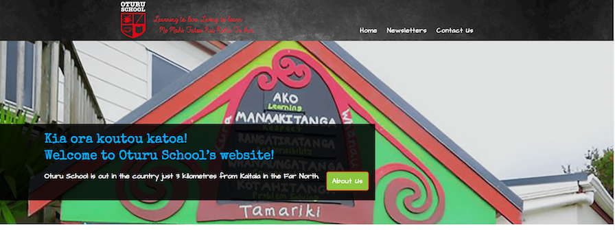 Oturu School website banner