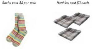 Socks and hankies.