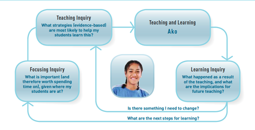 Teaching as inquiry model.