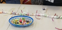 Students made a ula lole (lolly necklace).