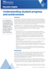 Understanding student attainment and progress.
