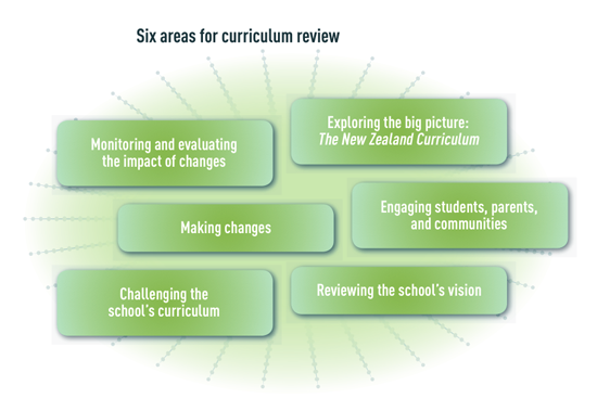 Six focus areas for curriculum review.