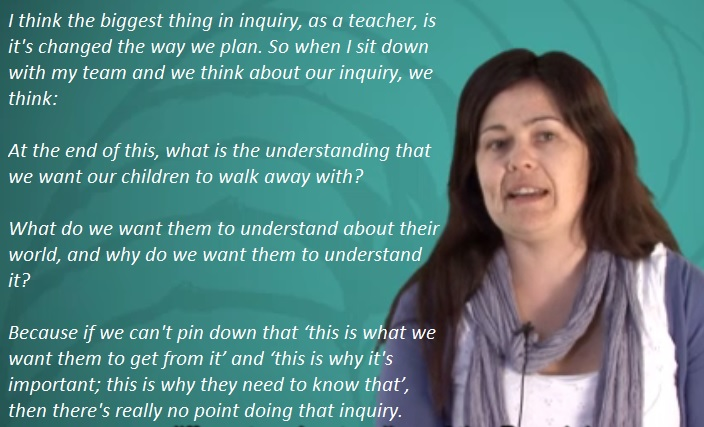 Vic Hygate talking about inquiry learning.