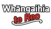Whāngaihia Te Reo logo.
