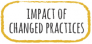 Impact of changed practices.
